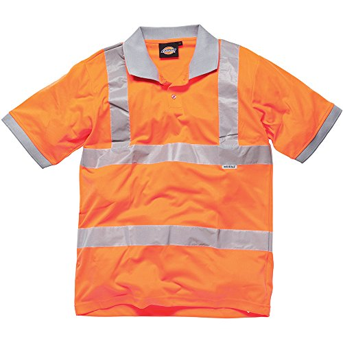 Dickies SA42075 OR M GO/RT Polo Gort haute visibilité Taille M Orange