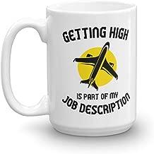 Getting High Funny Pilot Aviation Novelty Gift Mug (15oz)
