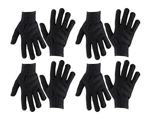newgen medicals Körperpeeling-Handschuhe: 4 Paar Peeling-Handschuhe, Einheitsgröße (Peeling-Handschuh für Massage)