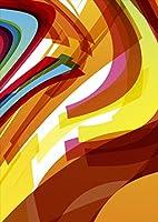 igsticker ポスター ウォールステッカー シール式ステッカー 飾り 841×1189㎜ A0 写真 フォト 壁 インテリア おしゃれ 剥がせる wall sticker poster 000481 その他 カラフル ウェーブ