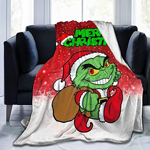 GEHIYPA Grinch Bros Ultra-Soft Micro Fleece Blanket Microfiber Blanket,Luxury Blanket For Bedding Sofa And Travel 60x50 Inch