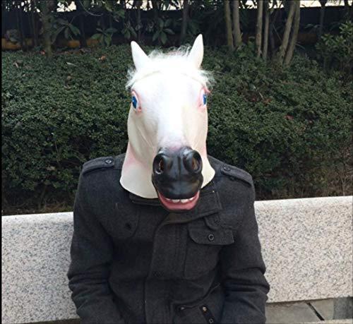 tytlmask dier paard hoofd latex maskers, grappige eenhoorn masker, voor volwassen volledig gezicht halloween partij kostuum mythologie Fancy prop