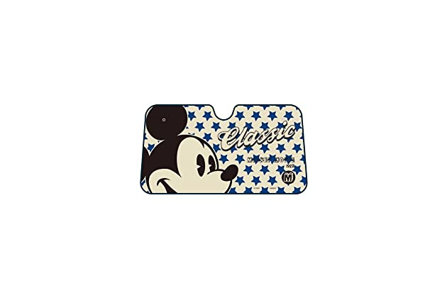Mickey Mouse Classic Face with Script and Blue Stars Disney Car Truck SUV  Front Windshield Sunshade - Accordion Style 1627fed050a