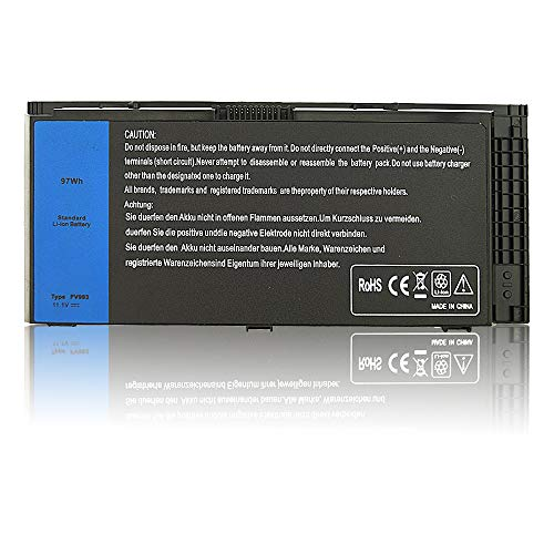 Mew M6600 Laptop Battery for Dell Precision M4600 M4700 M4800 M6700 M6800 Series Battery Fits Type FV993 KJ321 FJJ4W R7PND PG6RC RY6WH - [11.1V 97Wh]