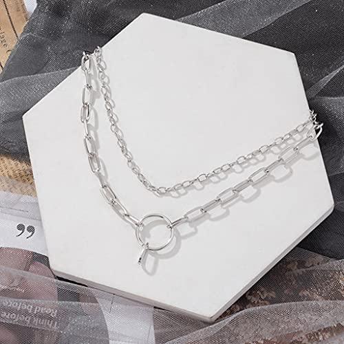 MIKUAU collarCollar Vintage en el Cuello, Gargantilla con Cadena de Oro, Collar para Mujer, declaración, Collar de Fiesta de Metal Multicapa, joyería de Tendencia, Regalos