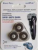 Têtes de rasage alternative / compatibles modèle SH50 SH70 SH90 tient dans / convient pour rasoirs S5000, S6000, S7000 et S9000.