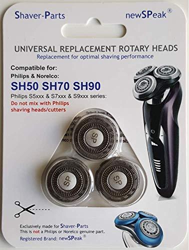 Testine di Rasatura modello SH50 SH70 SH90, Alternativa Testine di Rasatura adatto per rasoi. NON si tratta di una parte genuina di Philips.