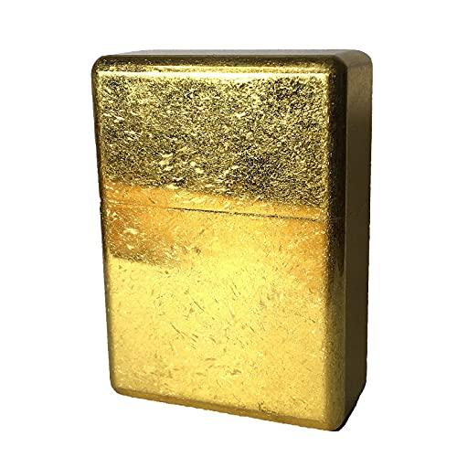 ライター界のロールスロイス 永久無料修理保証 オイルライター 超重厚 ウルトラ ソリッド アーマー つや消しマットゴールド
