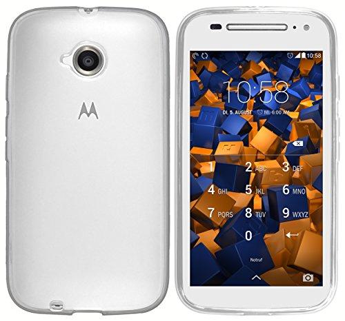mumbi Hülle kompatibel mit Motorola Moto E2 Handy Case Handyhülle, transparent Weiss