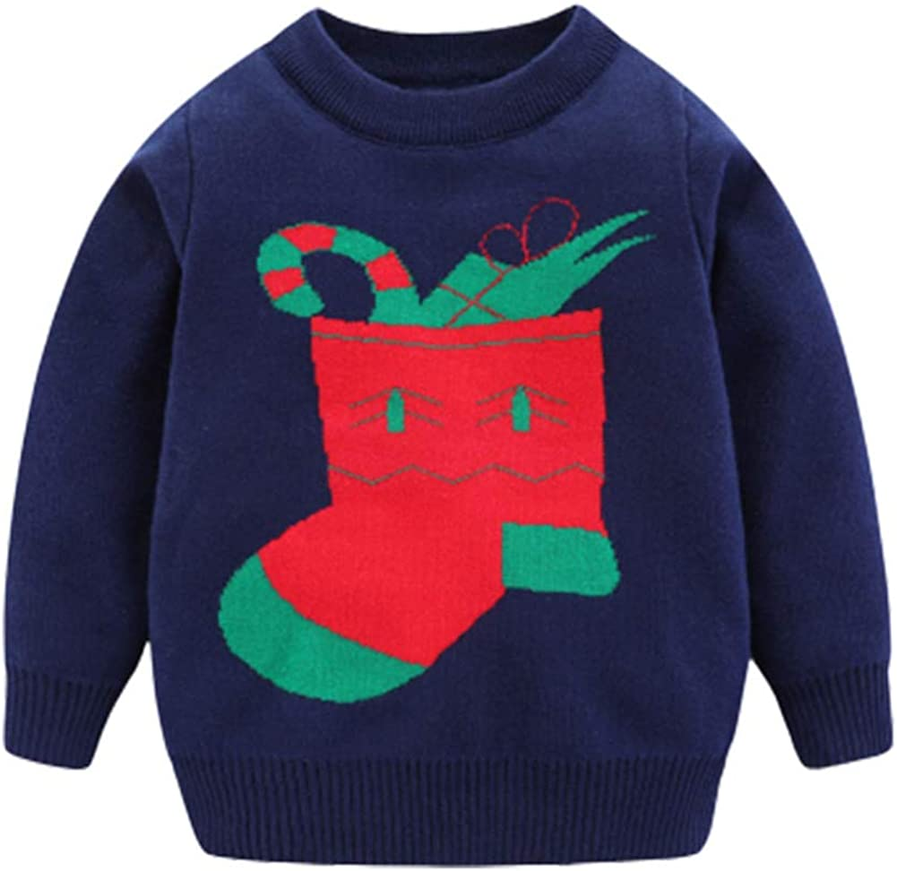 Mud Kingdom Cute Little Boys Sweater Christmas Sock Pullover