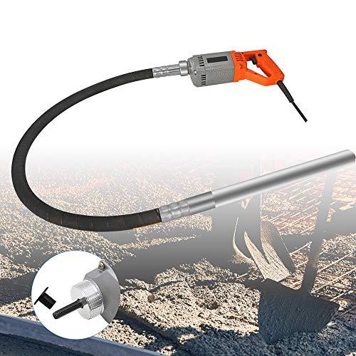 Hanchen Vibrador de Hormigón Eléctrico 1280W Hormigonera Industrial Diámetro 35mm con Manguera...