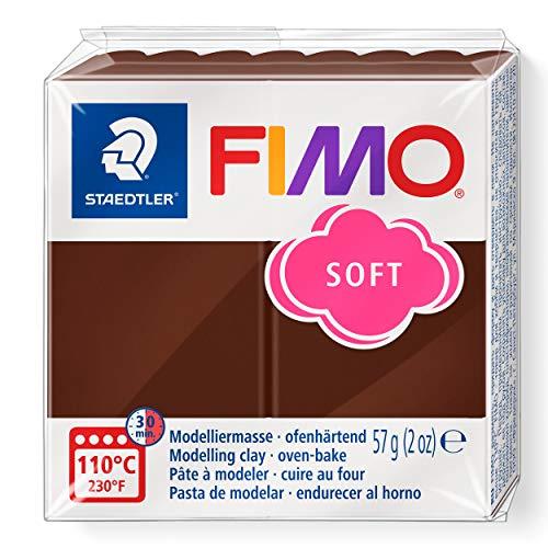 STAEDTLER 8020-75 - Fimo Soft Normalblock, Modelliermasse, 57 g, schokolade