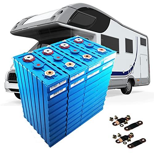 YHWL 4 Piezas de Batería LiFePo4 de 3,2 V 200AH, Batería de Fosfato de Hierro y Litio RV Solar Energía Eólica Emergencia en el Hogar Ventas de Garaje Herramienta Eléctrica y Batería de Vehículo