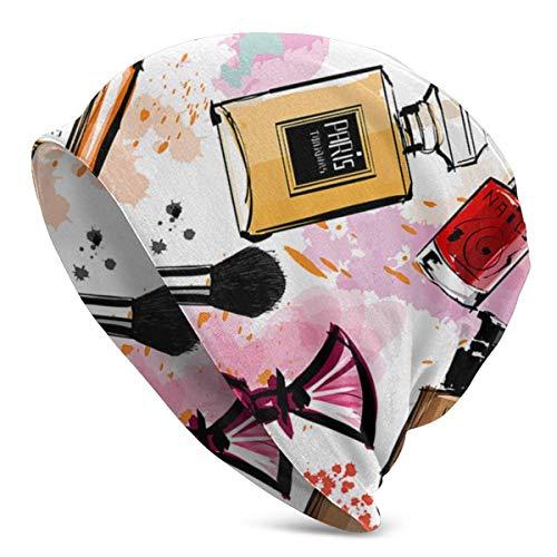 Modern Lady Girly Kosmetisches Parfüm Lippenstift Frauen Männer Beanie Cap Casual Hip-Hop...