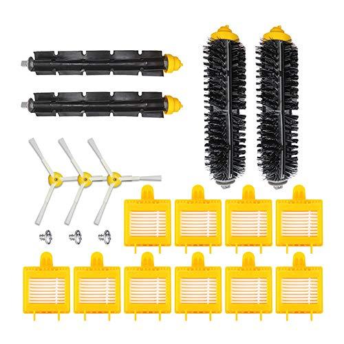 Festnight borstelaccessoires-kit compatibel met stofzuiger uit de 700-serie accessoires (2 x hoofdborstel + 10 x filternet + 3 x zijborstel met schroef voor)