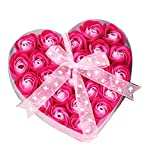 uswine Herzförmige Box Rose Seife Blumen romantische Hochzeit Party Geschenk Badezimmer Dekor...