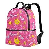 Mochila de princesa, color rosa, para mujeres, adolescentes, niñas, bolso de moda, para viajes, colegio, informal, para niños y niñas