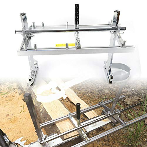 OUKANING Chainsaw Mill Mobiles Sägewerk Holz Motorsäge für 14''bis 24'' Kettensäge