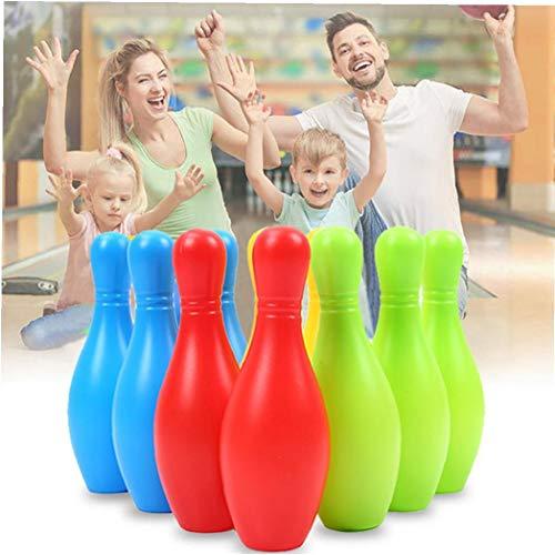 lulongyansf Tragbare Mini-Miniatur Bowling Spielzeug Leichte Mini Bowling Spielzeug-Set Funny Game-Geschenk für Kinder Kinder 1 Set zufälliger Farbe