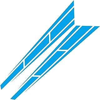 OUYAWEI 2pcs Car Racing Sport Stripe 4.5 '' x 31.5 '' Cover Vinyl Decals Graphics Truck Bonnet stickers blue Auto Accessories