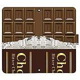 Xperia 10 II SO-41A ケース [デザイン:6.ビターチョコレート/マグネットハンドあり] 板チョコ チョコレート 手帳型 スマホケース カバー エクスペリア10 2 so41a