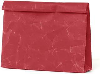 SIWA(シワ) クラッチバッグ Wide 特殊な和紙で作られた軽くて風合いの良いバッグ レッド