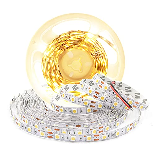 Arotelicht 5m 5050 Striscia LED 12V Striscia luce bianca calda nastro lucine non impermeabile 3000K Strisce LED 300 strisce autoadesive luci nastro fai da te dimmerabili per la decorazione d'interni