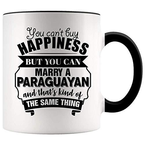 N\A Personaliza Tazas Divertido de San Valentín para Esposo, Esposa es una Taza con Acento paraguayo. No Puedes Comprar la Felicidad, Pero Puedes casarte con un paraguayo y eso es lo mism