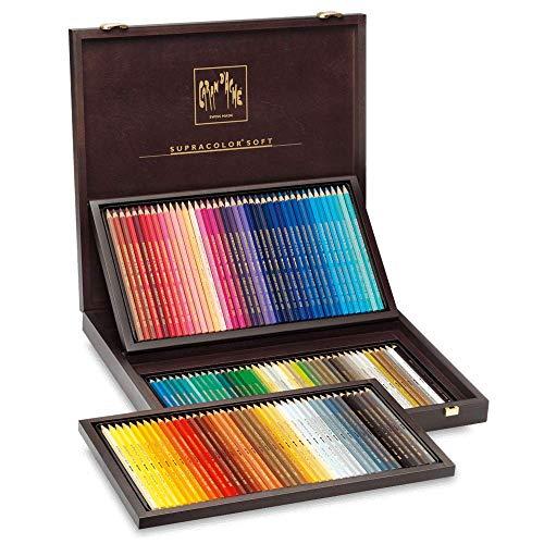 Caran D'ache Supracolor - Set di 120 matite colorate in scatola di legno, multicolore