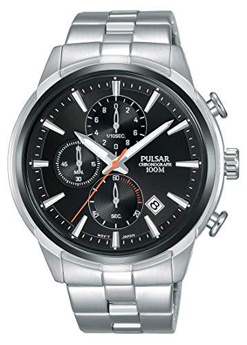 Pulsar Reloj cronografo para Hombre de Cuarzo con Correa en Acero Inoxidable PM3117X1