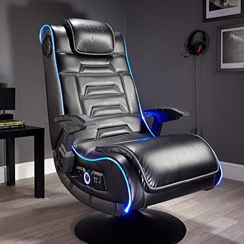 X Rocker Evo Pro 4.1 Gaming & Entertainment Sessel mit 4.1 Soundsystem, LED-Beleuchtung, Bluetooth & Vibration