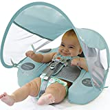 Preself Baby Float Swim Trainer Over UPF 50+ Sun Canopy Ladybug Mambobaby Infant Soft Solid Infant Pool Float (Light Blue)