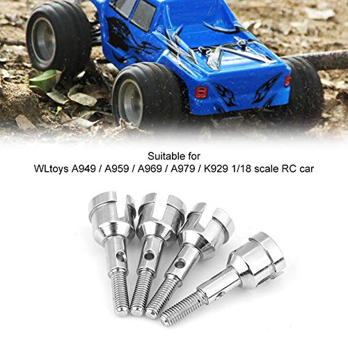 Dilwe RC-Radachsen, 4-teilige Radachsen Upgrade-Zubehör Kompatibel mit WLtoys A949/A959/A969/A979/K929 1/18 RC Car