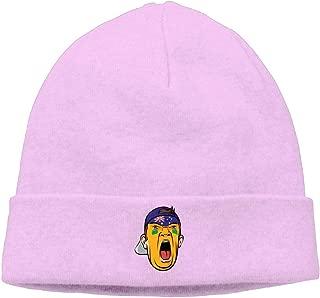 Skull Cap for Unisex Football Fan Head Australia Winter Daily Knit Hat Pink