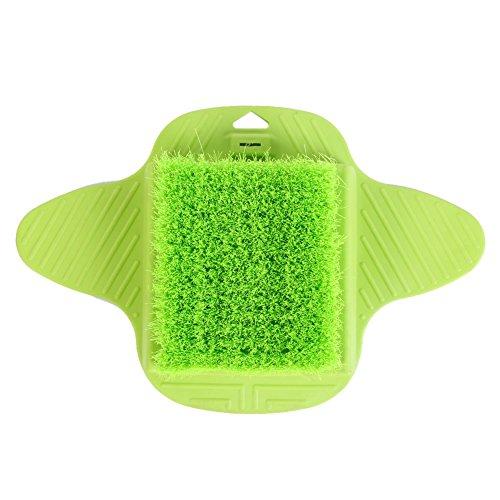OKBY Fußbürste für Die Dusche Dusch - Peeling Fußreiniger Scrub Massager Spa Mit Hängenden Haken (Color : Green)