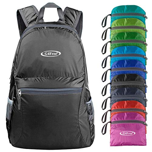 G4Free 20L Ultra Lightweight Foldable Backpack Packable Water Resistant Daypack for Outdoor Walking Camping Traveling Cycling Holiday Unisex