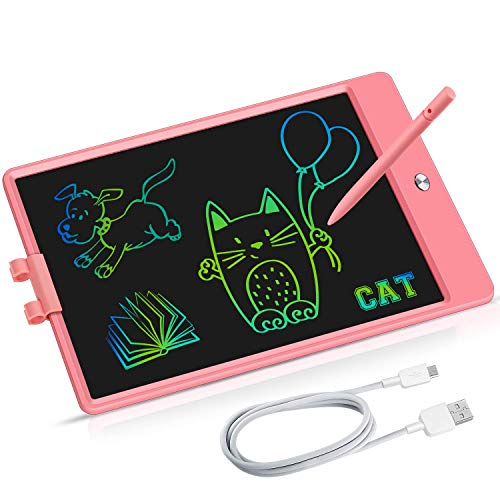 YOMERTO LCD Writing Tablet Kids Toys for Girls Boys 3 4 5 6 7-12 Year Old 11 inch Rechargeable Doodle Board HD Colorful Screen Adults Toddlers Birthday Gifts Educational Learning Toy
