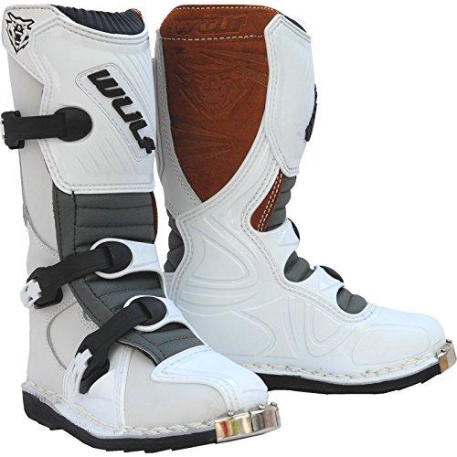 Wulf Cub LA Junior Motocross Boots 35 White (UK 3)