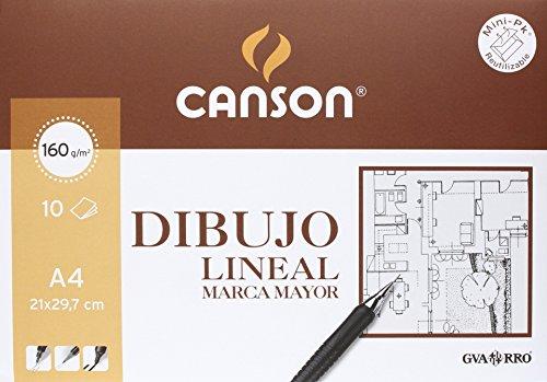 Papel para dibujo técnico Canson Marca Mayor. Bloc de 10 láminas