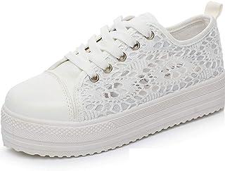 10c1d003a4cf87 Nouveau Femmes Marcher Sneaker Trainers Mesdames Confortable Chaussures À  Lacets en Toile Maille Floral Respirant Plateforme