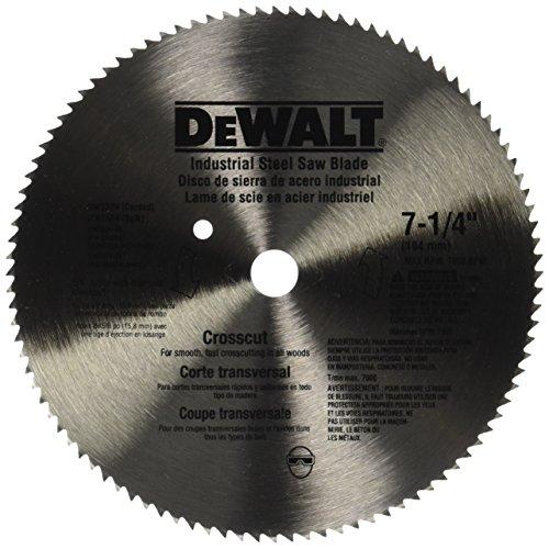 DEWALT DW3324 7-1/4-Inch 100 Tooth ATB Crosscut Saw Blade...