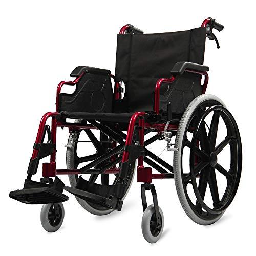 Standard Leichtgewichtsrollstuhl, Faltrollstuhl, Leichter Rollstuhl, Modell Opera, Klappbare Armlehnen, Abnehmbare Fußstützen, Breite der Sitzfläche: 46 cm