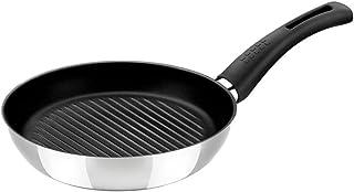 BRA Elite - Sartén grill asador, 28 cm, acero inoxidable 18/10, con antiadherente Teflon Platinum Plus