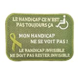 Lilie Créa Patch Handicap Invisible, Mon Handicap ne Se voit Pas, écusson Handicap Invisible, 9,2 x 6,3 cm