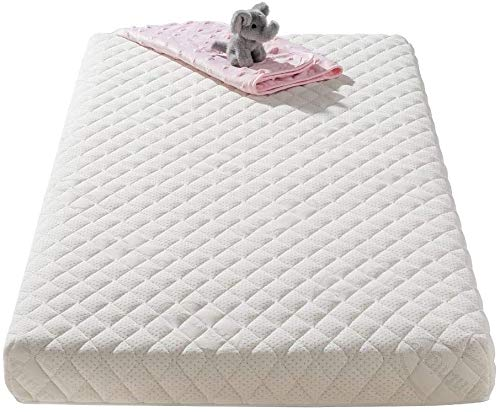 Premium Cot Bed Mattress Protector Quilted Cover Waterproof Fitted Sheet Silent Topper for Baby Toddler Children Cotbed 60 X 120 cm