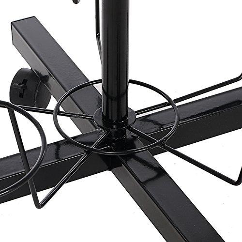 Fashine 7 Tier 35 Sets Hanger Adjustable Rotating Cap Display Rack Metal Stand Hat Rack Organizer(Black)