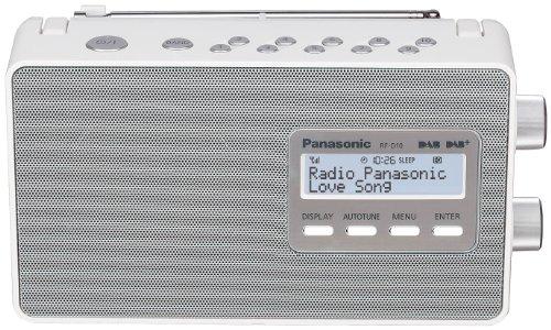 Panasonic RF-D10EG-W - Radio Digital (Dab+, sintonizador FM, alimentación y Pilas), Color Blanco