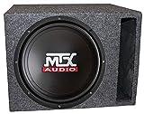 MTX TN12-02 12' 400 Watt Car Audio Bass Subwoofer + Vented Ported Box Enclosure