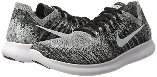 Nike Womens Free RN Flyknit 2017 Running Shoes Black/Volt/White...