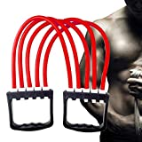 PRO365 Rubber Gym/Yoga/Indoor Chest Expander (5 Strength Tubes/Levels Adjustable)